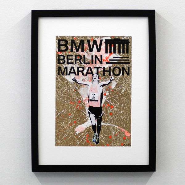 Berlin Marathon Logo Gold Orange