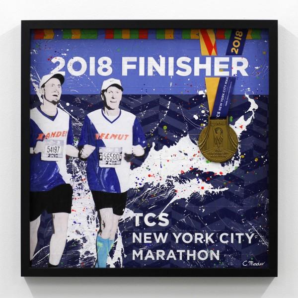 New-York-Marathon mit Medaille