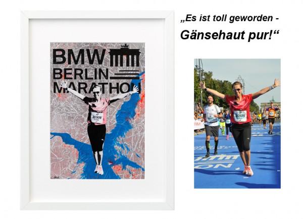 Laeuferportrait_Rettungsdecke_Berlin_Marathon_silber_blau_30x40cm_neu