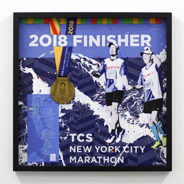 New-York-Marathon mit Medaille und Strecke