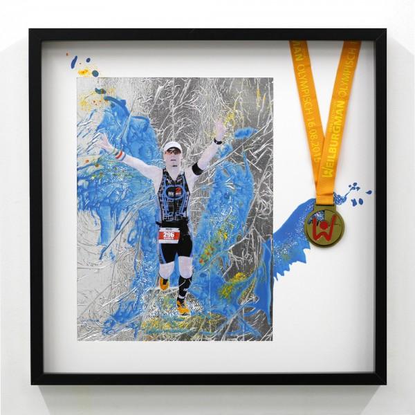 Läufer-Portrait mit Medaille